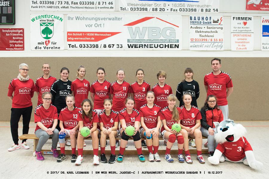 Mannschaftsbild RW WER weibl. Jugend-C