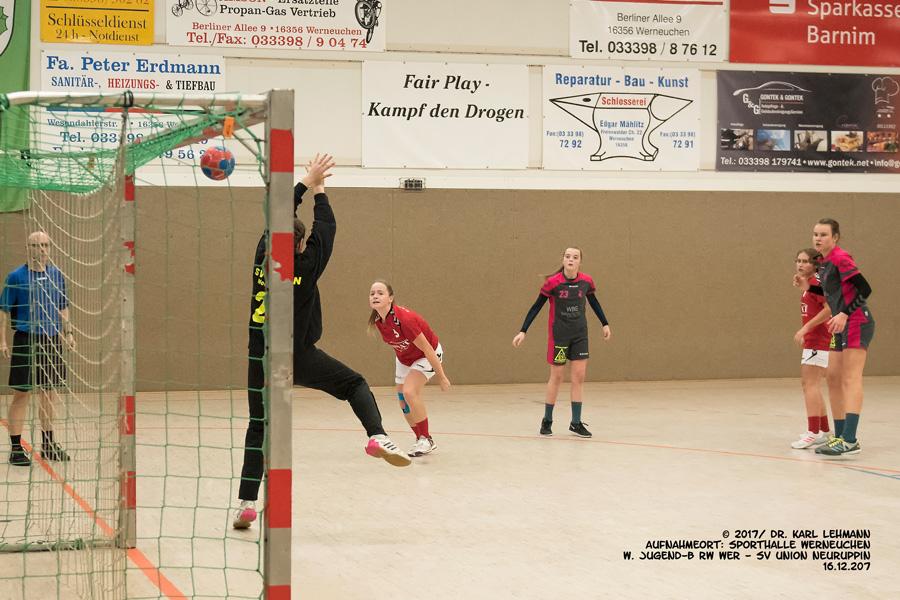 Punktspiel weibl. Jugend-C RW WER _Union Neuruppin