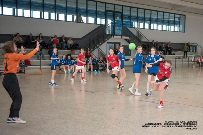 HB Punktspiel weibl Jug-C RW WER_Oranienburger HC